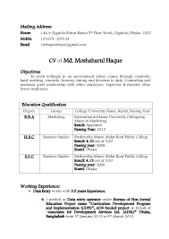Resume Format For Bba Graduates Resume Template Sample