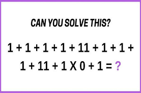 people get diffe answers and they start arguing about it and this is the latest brain teaser that is available on the internet take a look at the math