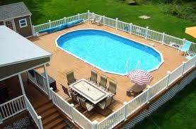 multi level above ground pool deck design ideas