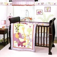 baby girl crib bedding set lavender and pink jungle safari nursery zebra zoo in sets gray bed
