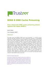 Bind 8 Dns Cache Poisoning