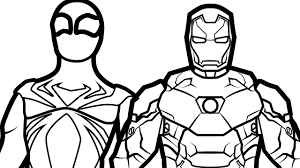 Small Picture Iron Spiderman vs Iron Man Coloring Pages For Kids Coloring Book
