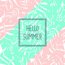 hello summer card background hd