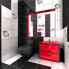 Red Bathroom Decor Red Bathroom Accessories Acrylic 4 Pieces Bathroom Accessory Set