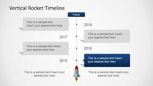 Vertical Timeline Powerpoint Vertical Rocket Timeline Template For Powerpoint