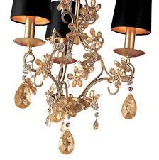 small modern fl design gold crystal chandelier