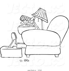 tv remote clipart black and white. vector of a cartoon man with popcorn, pointing remote at tv - outlined clipart black and white