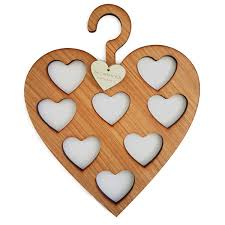 scarf hanger heart oak