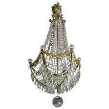 waterfall crystal and doré bronze hollywood regency chandelier for