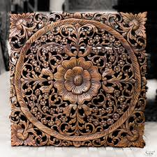 large carved wood panels wall art wildlife decoration decorative asian wall panels and birds designs
