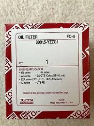 Nos Toyota Oil Filter Genuine Toyota Oem 90915 Yzzd1 7197807443956 Ebay