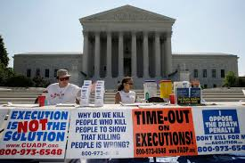 common pro death penalty arguments anti death penalty groups hold demonstration against executions