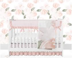 attractive baby girl crib bedding blush pink salmon peach gold hearts blush pink crib bedding