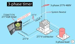how to wire intermatic t104 and t103 and t101 timers 277 Volts Single Phase larger image t104 controls 277 volt
