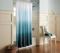Ocean Blue Shower Curtain In Modern Design (Image 12 of 15)