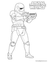 star wars first order storm trooper coloring page