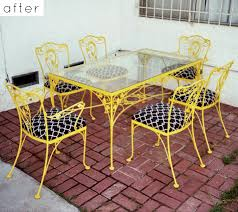 yellow outdoor furniture. Outdoor Furniture Makeovers 8 Yellow
