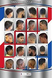 Barbershop Hairstyle Chart Amazon Com 061hsm Barber Poster Mens Hairstyles Beauty