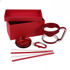 stainless steel tumbler gift set color coordinated handle lid straws and a carabiner fits