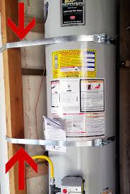 water heater earthquake bracing and strapping san go code