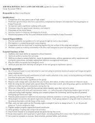 Animator Resume Camp Counselor Resume Description Confortable For Summer Leader 98