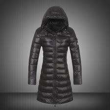 Moncler Coats Women Coats Down Smooth Shiny Fabric Black 2tH1