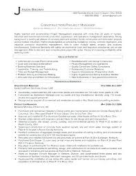Junior Project Manager Resume Sample Doc Construction Foreman