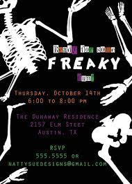 Free Halloween Birthday Invitation Templates Scary Invitation Templates