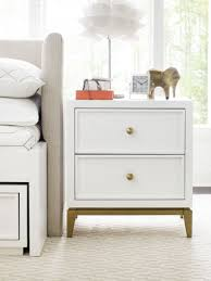 Uptown White and Gold 2 Drawer Nightstand by Rachael Ray