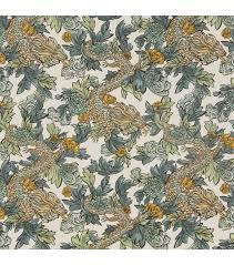 home decor print fabric robert allen ming dragon midnight
