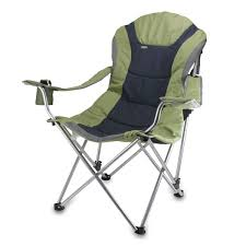 Amazon Com Picnic Time Portable Reclining Camp Chair Black Gray