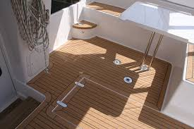 floor perfect faux teak flooring in floor flexiteek synthetic decking at the southampton boat show faux
