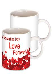 red happy valentine day coffee mug