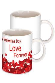 red happy valentine day coffee mug