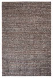 hand woven wool dark brown area rug 8 x10 neutral solid