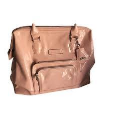 leather handbag longchamp pink fuchsia light pink