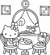 Small Picture Free Printable Hello Kitty Coloring Pages For Kids In Throughout