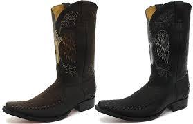 Amazon Com Grinders Kansas Brown Mens Leather Western