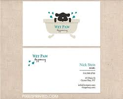 Pet Sitter Business Cards 225 Best Business Card Logo Images On Pinterest Veterinarian