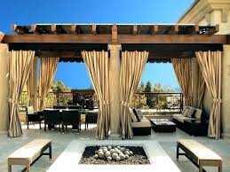 curtain outdoor gazebo curtains patio ideas deck privacy pergola bamboo curtai