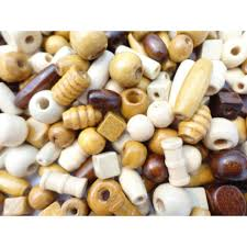 100 or 200 wooden mixed size shape wood beads craft jewellery dolls hair braiding