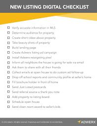 Digital Marketing Checklist For New Real Estate Listings