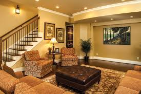 image of basement recessed lighting placed