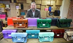 keith hanshaw of the leather satchel co at the new pop up in the
