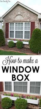 Diy Window Boxes How To Make A Window Box