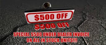 an extra 500 off all new in stock units