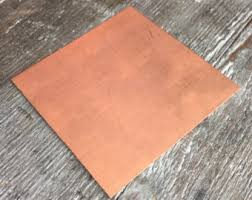 16 gauge copper sheet sheet etsy