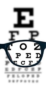 Blurry Eye Test Chart Myopia Nearsightedness