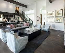 Living Rooms With Area Rugs Oak Floors In Living Room Contemporary With Ceiling Beams Area Rug