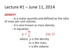 Density Specific Gravity